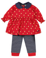 *40% Off!* Dotty Dress & Leggings Set