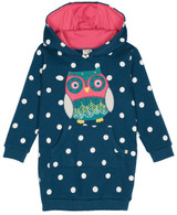 Harriet Hoody Owl Appliqué Dress