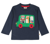 Little Discovery Bus Appliqué Top