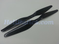 Pair 11x5.5 T-motor style Carbon fiber CW/CCW prop for RC Multi-Copter #2