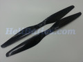 Pair 14x5.5 T-motor style Carbon fiber CW/CCW prop for RC Multi-Copter #5