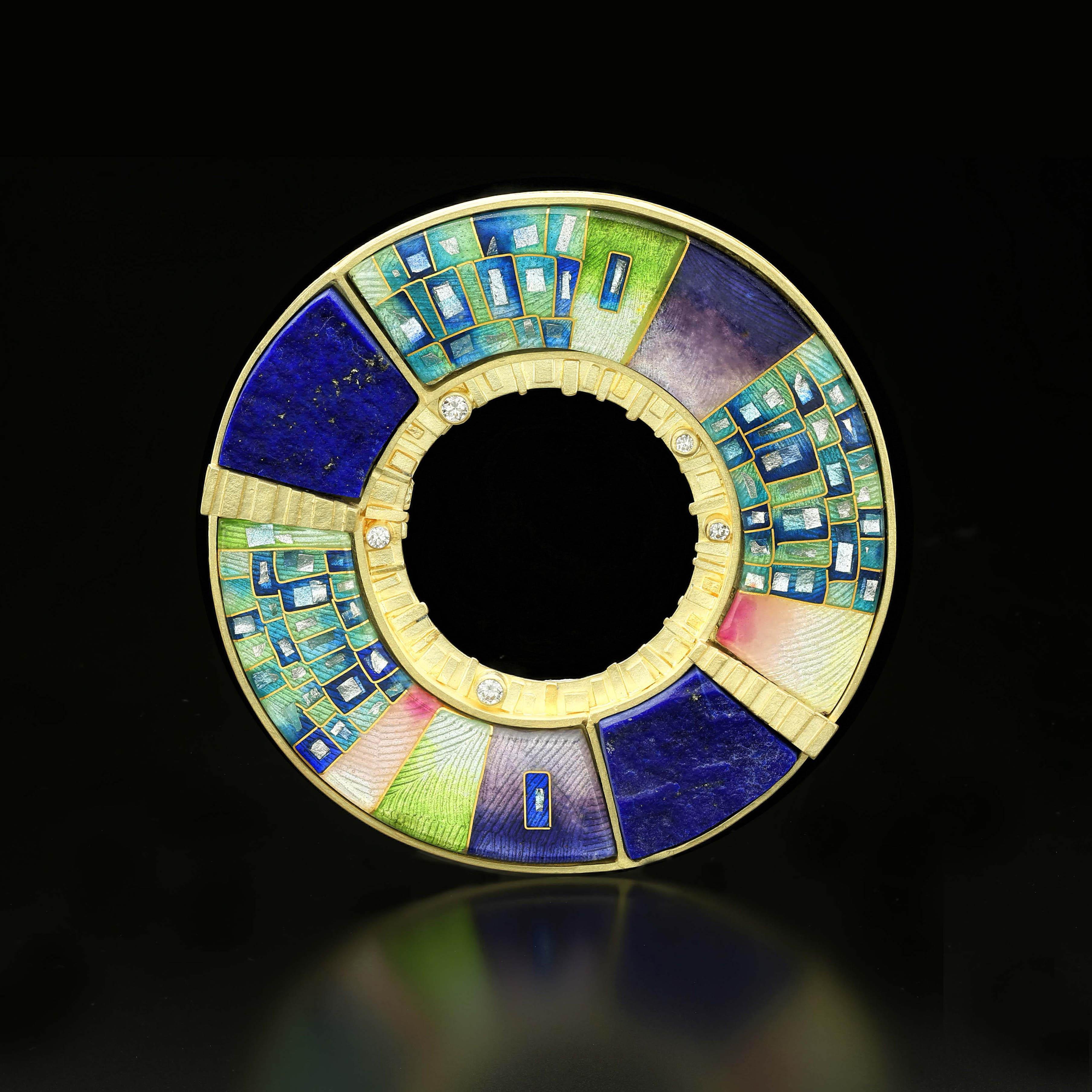 Amy Roper Lyons Saul Bell Award   Orbit #2 Pin/Pendant