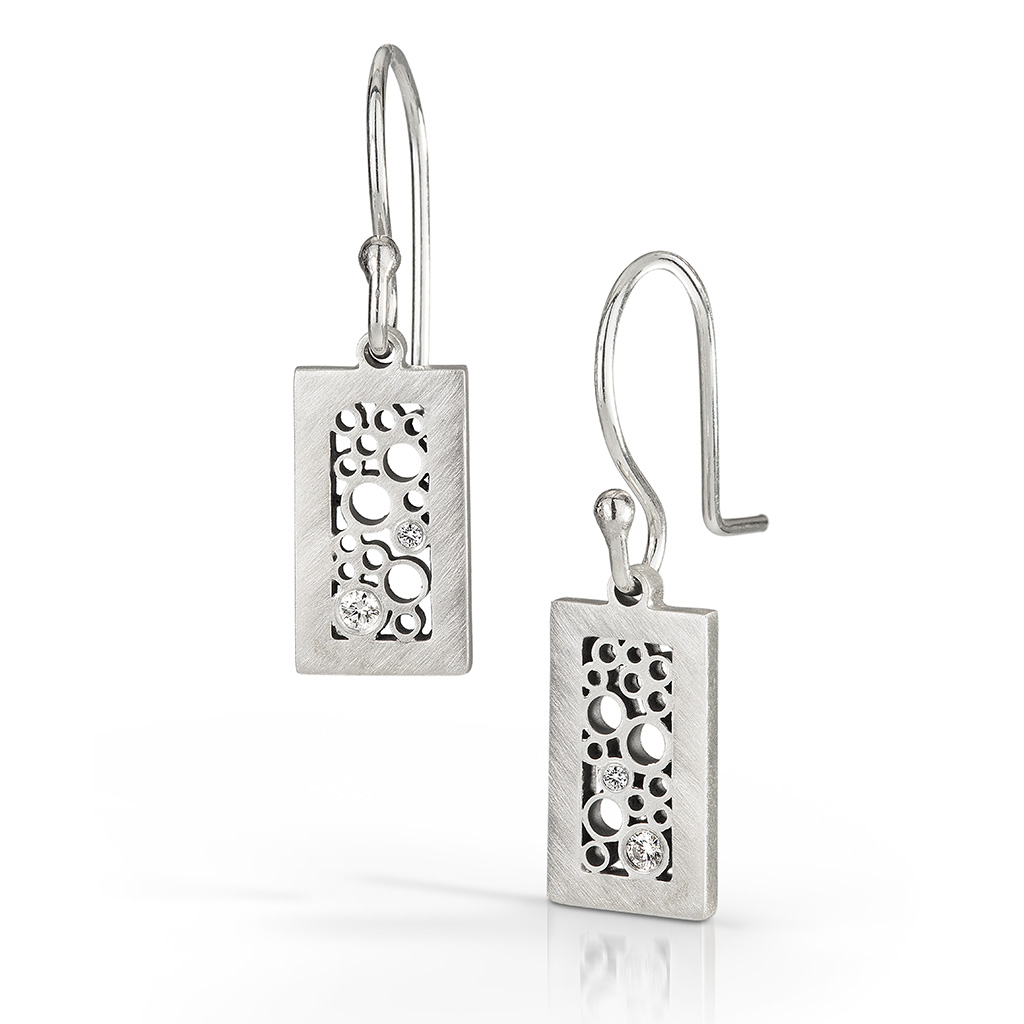 Contemporary Jewelry from Belle Brooke Designs | Short Rectangle Dangle Earrings