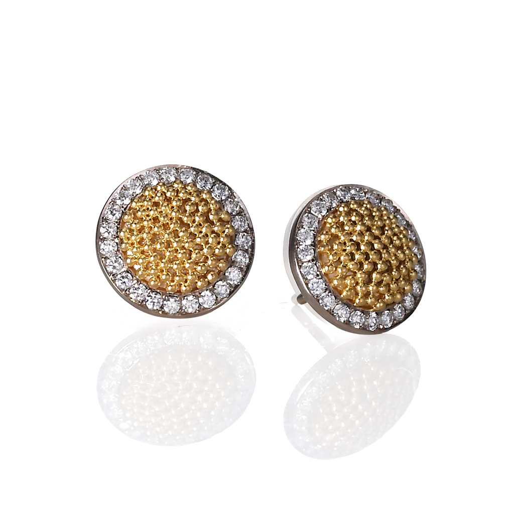 Gold Granulation Jewelry from Cornelia Goldsmith | Stunning Circle of Light Earrings