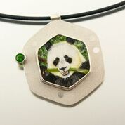 Giant Panda Pendant from Carol Salisbury's Endangered and Vulnerable Species Series