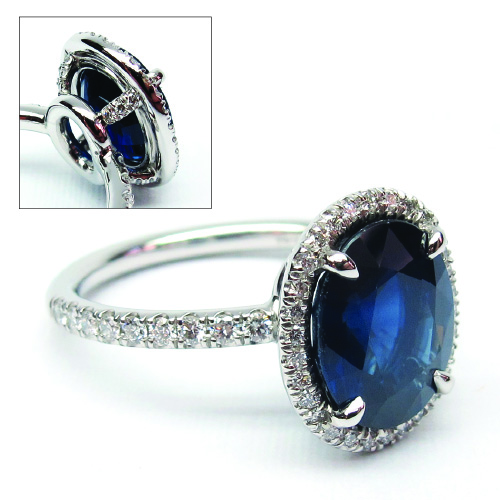 Custom Made Oval Sapphire Ring at Artners Gallery