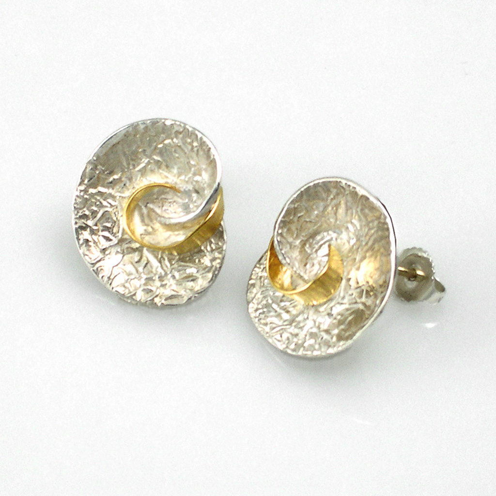 Handmade Washi Jewelry from Keiko Mita | Swirl Earrings