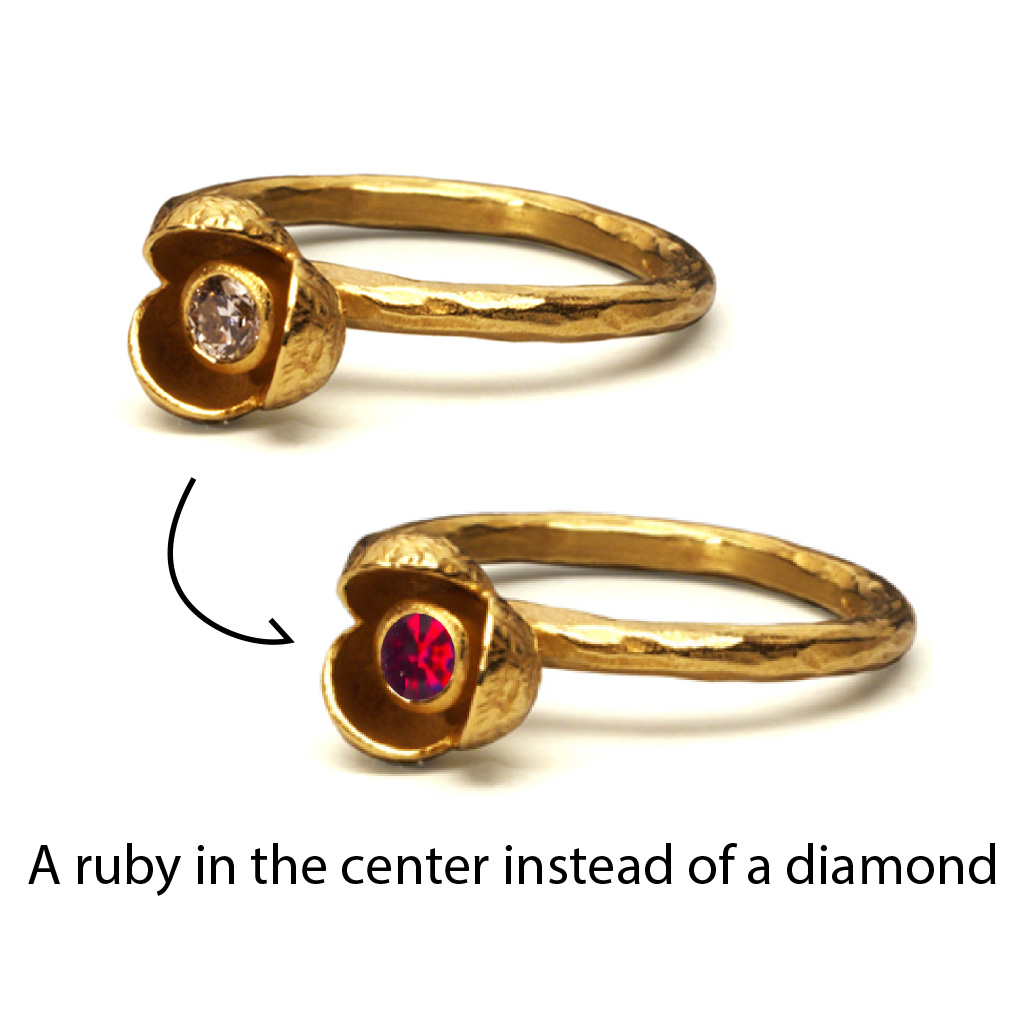 Change Stone from Diamond to Ruby