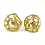 Contemporary Earrings from Liaung Chung Yen | Rock Shaped Diamond Studs