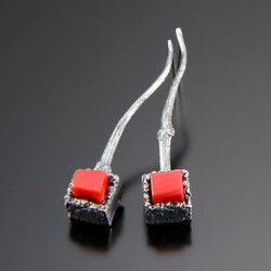 Art Jewelry, Cubeberry Drop Earrings by Aleksandra Vali
