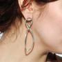 Drop Earrings on model, Modern Jewelry by Cheryl Eve Acosta
