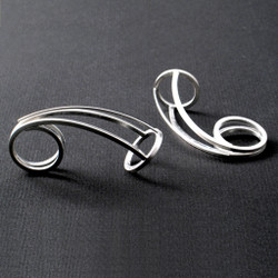 Conical Swirl Earrings, Contemporary Jewelry by Cheryl Eve Acosta