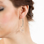Flute Earrings on model, Modern Jewelry by Cheryl Eve Acosta