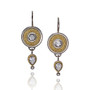 Diamond Dangle Disc Earrings, Fine Art Jewelry by CORNELIA GOLDSMITH