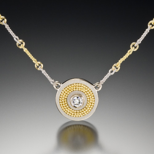 Disc Necklace V2, Fine Art Jewelry by CORNELIA GOLDSMITH