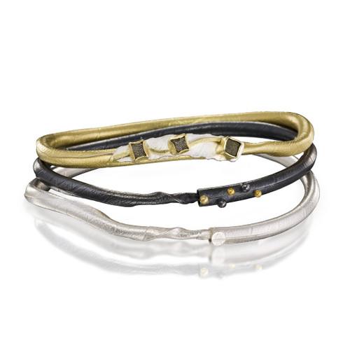 Tri-Color Twig Bracelets, Handmade Art Jewelry by Christine Mackellar