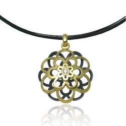 Moire Kiku Pendant, Modern Jewelry by Keiko Mita