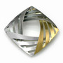 Moire Interwoven Pin/Pendant V2, Modern Jewelry by Keiko Mita