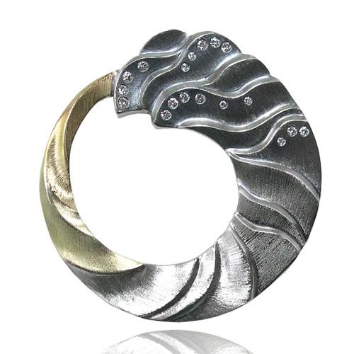 Tidal Pin, Fine Art Jewelry by Keiko Mita
