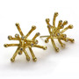 Gold Starburst Earrings, Modern Art Jewelry by Liaung-Chung Yen