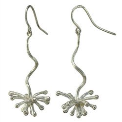 Dangle Starburst Earrings, Modern Art Jewelry by Liaung-Chung Yen