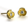 Gold Pedal Studs, Modern Art Jewelry by Liaung-Chung Yen