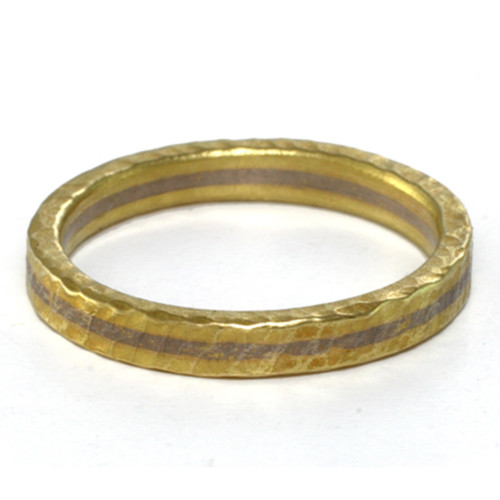 Two Tone Textured Band Ring 3.0, Handmade Modern Jewelry by Liaung-Chung Yen