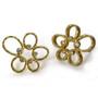 Open Frame Flower Earrings, Modern Art Jewelry by Liaung-Chung Yen