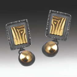 Elegant Rectangular Drop Earrings, Handmade Art Jewelry by Lori Gottlieb