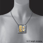 Elegant Square Necklace on model, Art Jewelry by Lori Gottlieb