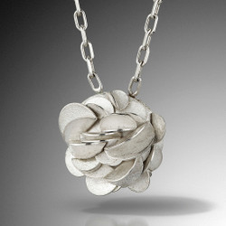 Large Desert Rose Necklace, Art Jewelry by Lori Gottlieb