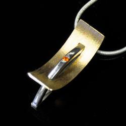 Breaking Through Necklace, Contemporary Jewelry by Maressa Tosto Merwarth