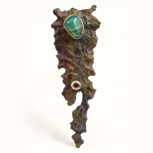 Meteora Pin, Unique Art Jewelry by Stefan Alexandres
