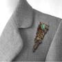 Meteora Pin on model, Unique Art Jewelry by Stefan Alexandres