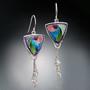 Nosegay Earrings, Modern Art Jewelry by Sheila Beatty