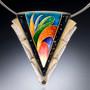 Bird of Paradise Necklace, Modern Art Jewelry by Sheila Beatty