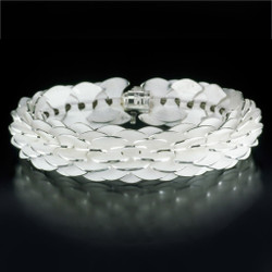 Silver Pangolin Bracelet by Samantha Freeman, Contemporary Jewelry