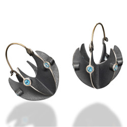 Basket Earrings by Samantha Freeman, Contemporary Jewelry