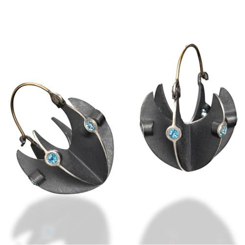 Basket Earrings by Samantha Freeman, Contemporary Jewelry