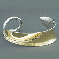 Petite Overlay Cuff by Nancy Linkin, Contemporary Jewelry