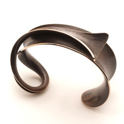 Flared Overlay Bronze Bracelet by Nancy Linkin