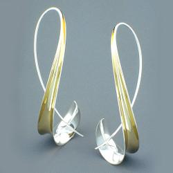 Twisted Leaft Earrings by Nancy Linkin, Modern Jewelry