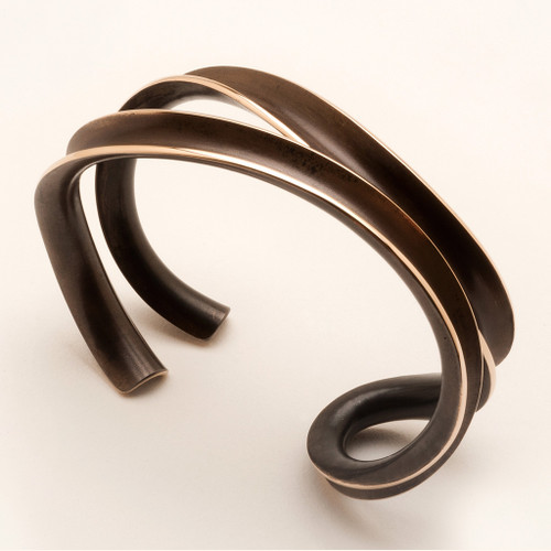 Paralell Weave Bronze Bracelet, Contemporary Jewelry by Nancy Linkin