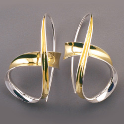 Looping Earrings, Modern Art Jewelry by Nancy Linkin