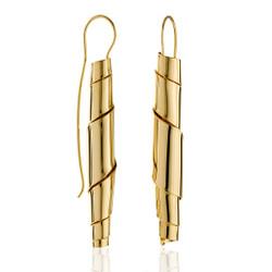 Tunnel Vision Earrings, Modern Art Jewelry by Mia Hebib