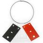 Black, Red, White Rectangle Suspendos by David LaPlantz