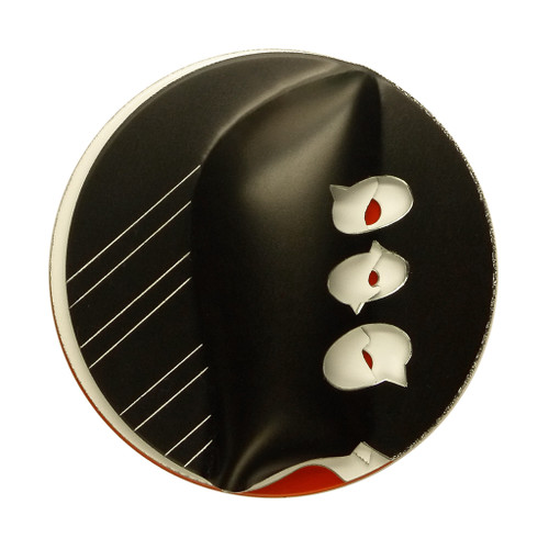 Threes Look There in Brooch, Contemporary 3D Brooch by David LaPlantz