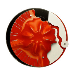 Partial Sun Burst Brooch, Contemporary 3D Brooch by David LaPlantz