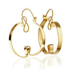 Curly Sue Earrings, Modern Art Jewelry by Mia Hebib