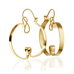 Curly Sue Earrings, Modern Art Jewelry by Mia Hebib